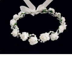 Lovely Foam/ Paper Flower Wedding Flower Girl Wreath/ Headpiece (042025214)