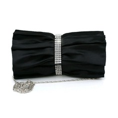 Black Gorgeous Silk With Austria Rhinestones Party Handbags/ Clutches More Colors Available (012008205)