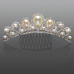 Gorgeous Rhinestones With Imitation Pearl Wedding Flower Girl Tiara/ Headpiece (042015967)