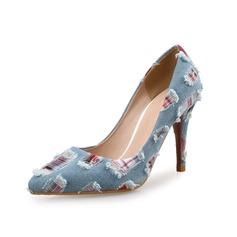 Женщины Ткань Высокий тонкий каблук На каблуках обувь