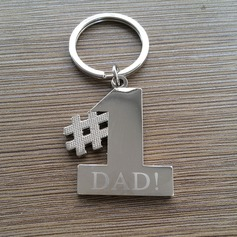 Personalized Unique Zinc Alloy Keychains (Set of 4)