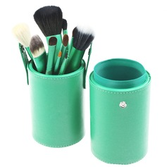13 Pcs Natural Goat Hair Makeup Brush Set With Brush Cylinder Tube