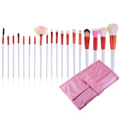 Roze Bag Professionele make-up kwasten (20 stuks)