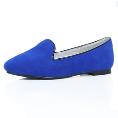 Suede Flat Heel Closed Toe Flats