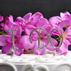 """I DO"" Chrome Wedding Cake Topper"