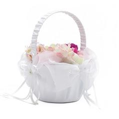 Classic Flower Basket sisään Satiini jossa Valetaskua helmi