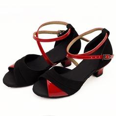 Donna Per bambini Similpelle Camoscio Tacchi Sandalo Latino con Listino alla caviglia Scarpe da ballo