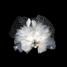 Gorgeous Artificial Silk/Net Flowers & Feathers