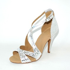 Leatherette Heels Sandals Latin Dance Shoes (053024880)