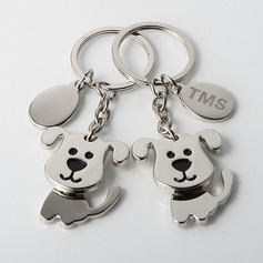 Personalized Puppies Zinc Alloy Keychains (Set of 4)