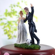 Sportiva Coppia Resine Matrimonio Decorazioni per torte
