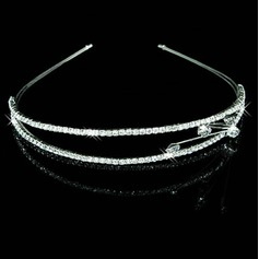 Clear Crystals Ht morsiamen Tiara / phine / Headband (042012939)
