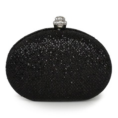 Gorgeous Sparkling Glitter With Rhinestone Clutches