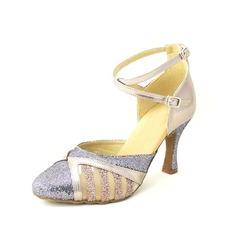 De mujer Brillo Chispeante Tacones Danza latina con Tira de tobillo Zapatos de danza
