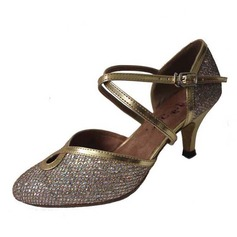 De mujer Cuero Brillo Chispeante Tacones Moderno con Tira de tobillo Hebilla Zapatos de danza