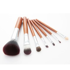 7 Pcs Makeup Brush Set With Leopard Cylinder Tube