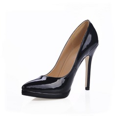Patent Leather Stiletto Heel Pumps Plateau Closed Toe schoenen