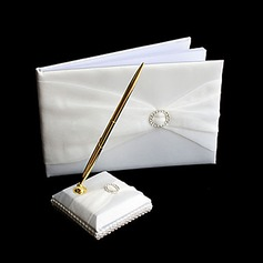 Rhinestone Wedding Guest Book And Pen Set(101018185)