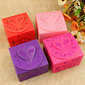 Floral Heart Design Favor Boxes - Set of 12 (More Colors) (114024112)