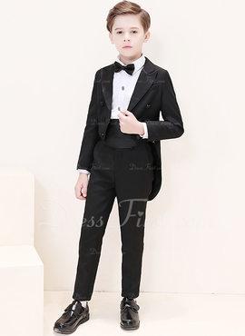 Muchachos 6 Piezas Elegante Trajes para el portador del anillo /Page Trajes De Niño con Chaqueta Camisa Pantalones Corbata de moño Faja Pañuelo De Bolsillo