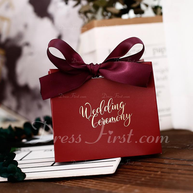 Klassische Art Andere Karton Papier Geschenkboxen mit Bänder (Set aus 30)