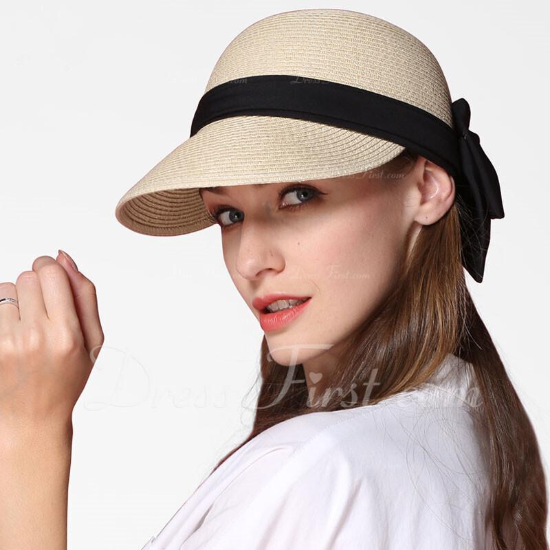 Señoras' Simple/Fantasía Papiro con Bowknot Sombrero de paja/Sombreros Playa / Sol