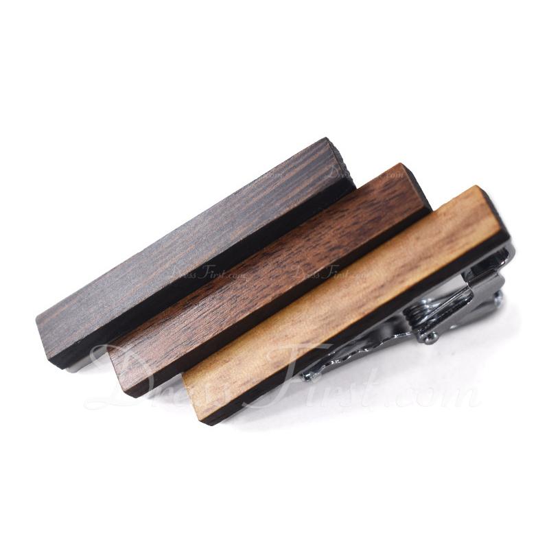 クラシック ビンテージ 木材 ネクタイピン