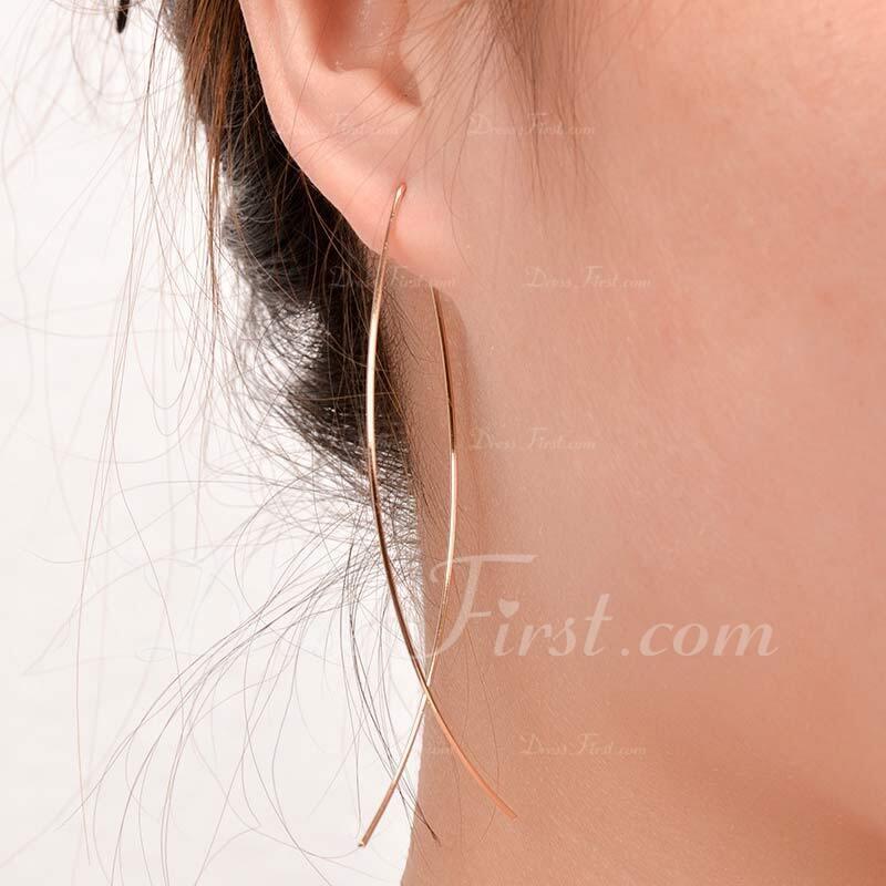 Stilvoll Metall Frauen Art-Ohrringe