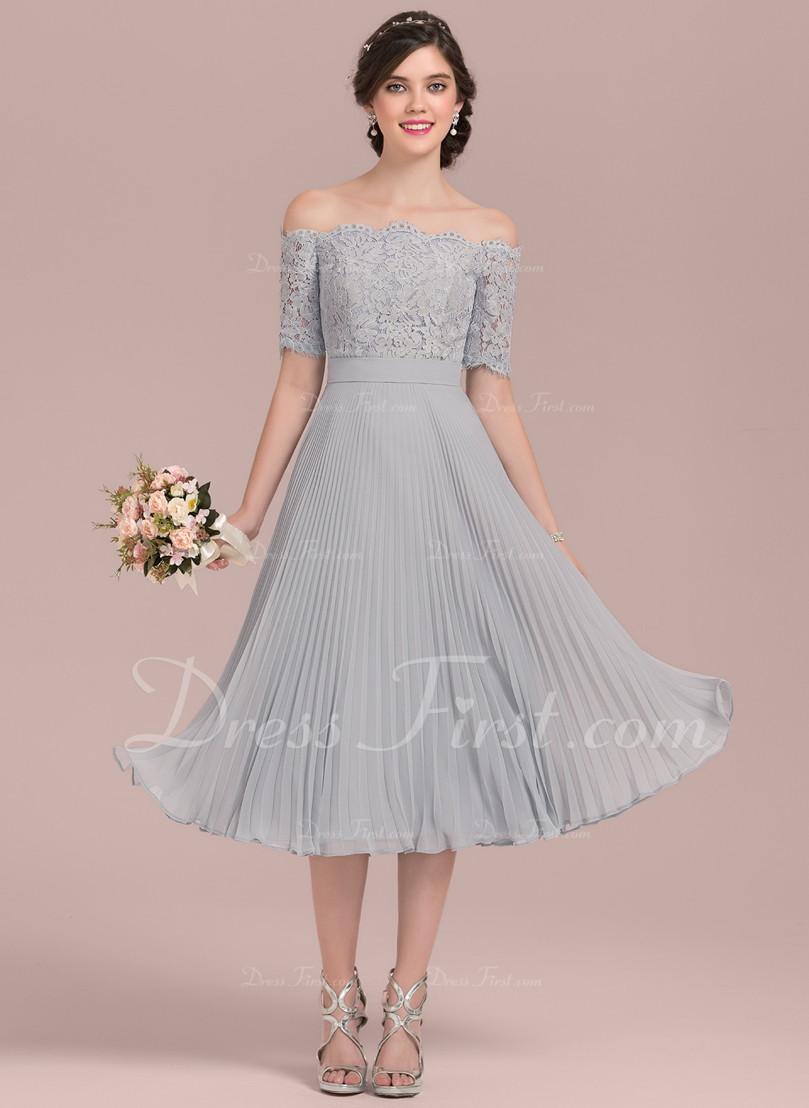 dbb1005fcdd73 Bridesmaid Dresses; #126435. Loading zoom. Loading. Color: As Picture. A- Line/Princess Off-the-Shoulder ...