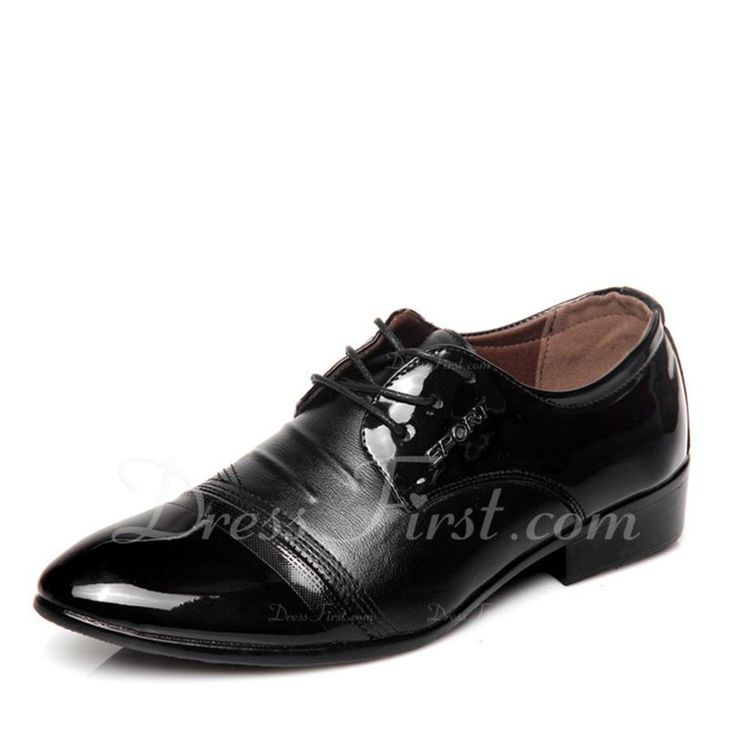 408812a5 Hombres Cuero Cordones Casual Trabajo Zapatos Oxford de caballero ...