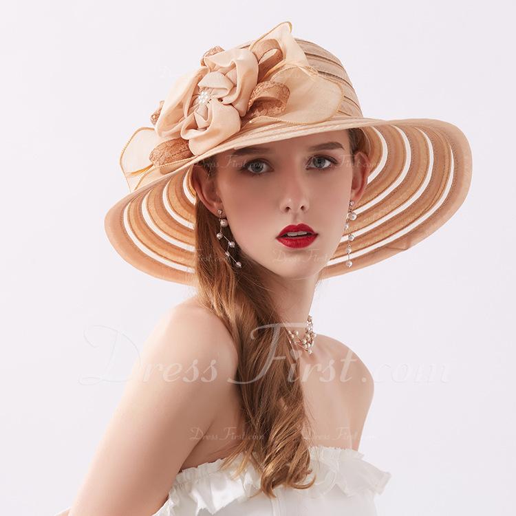 Señoras' Estilo clásico/Simple poliéster Sombreros Playa / Sol/Derby Kentucky Sombreros/Sombreros Tea Party
