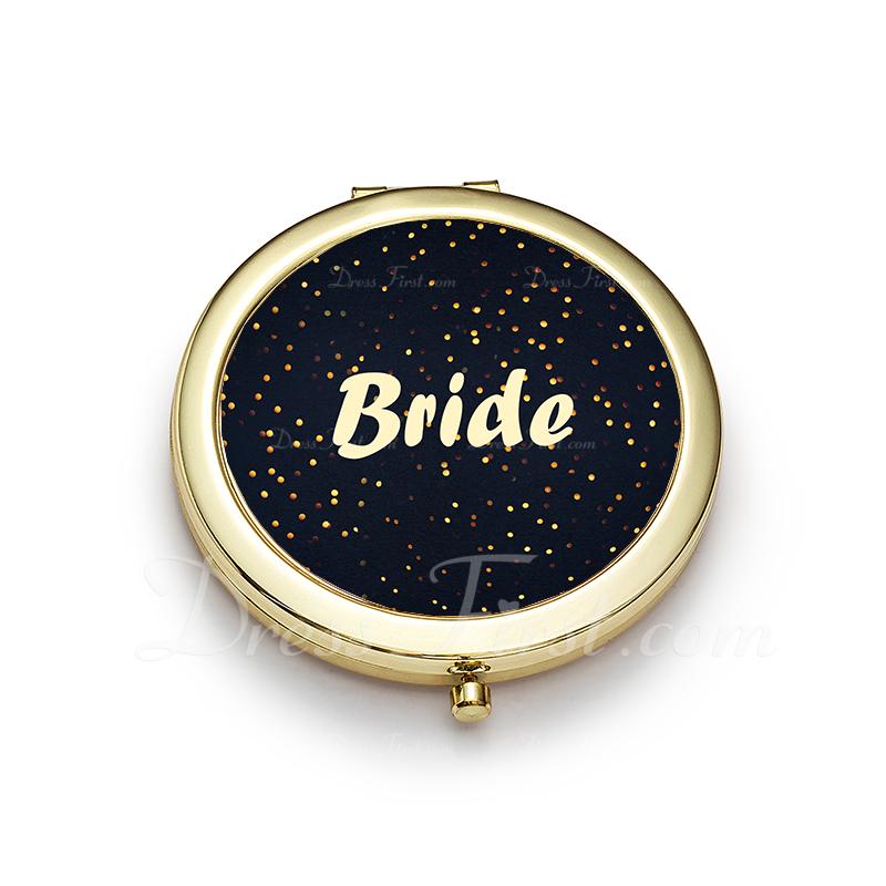 花嫁のギフト - クラシック 光沢のあります Special ステンレス鋼 コンパクトミラー