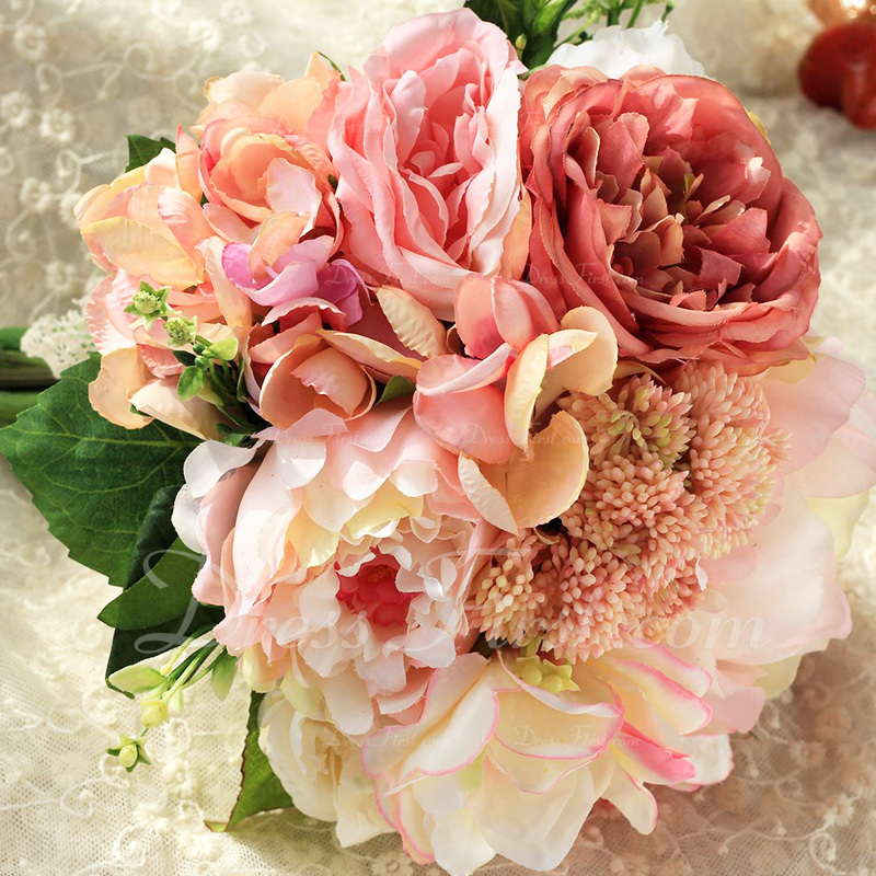Sencillas y elegantes Flores de seda Ramos de novia - Ramos de novia