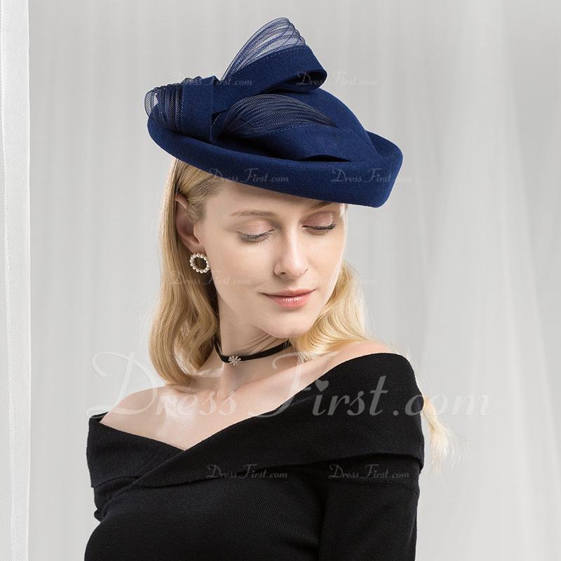 be5ad673857 Ladies  Fashion Elegant Simple Wool Beret Hats Tea Party Hats ...