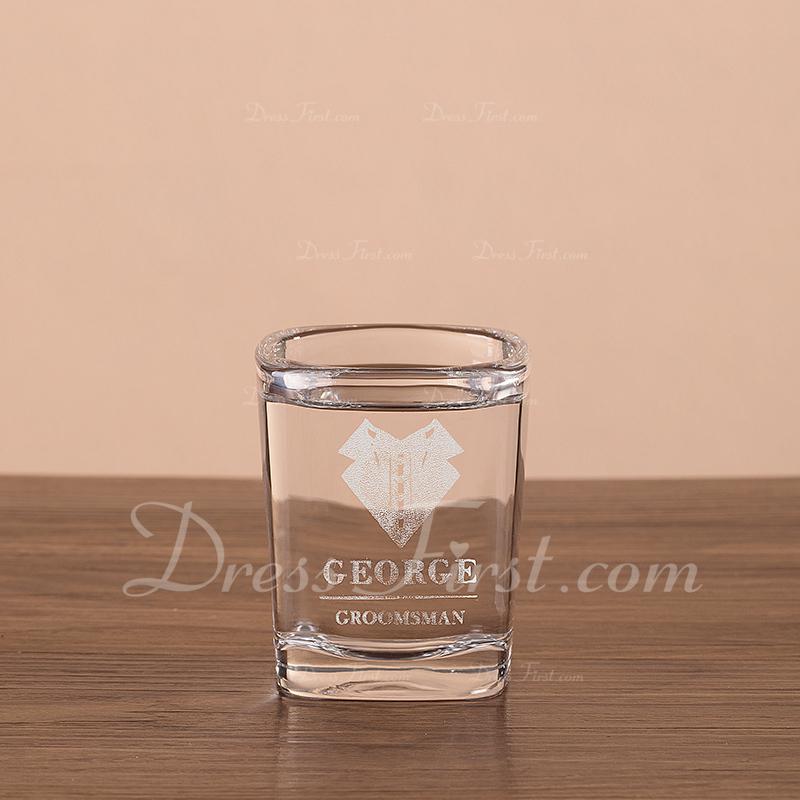 花婿の付添人のギフト - 個別の 現代 ガラス ウイスキーグラス