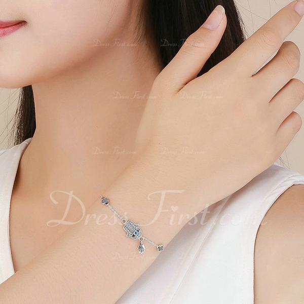 Platino Plateado Extensor de pulsera Cadena delicada Bracelets De Charme - Regalos De San Valentín Para Ella