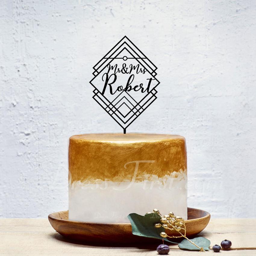 personalizované Classic pár Akryl Ozdoby na dort