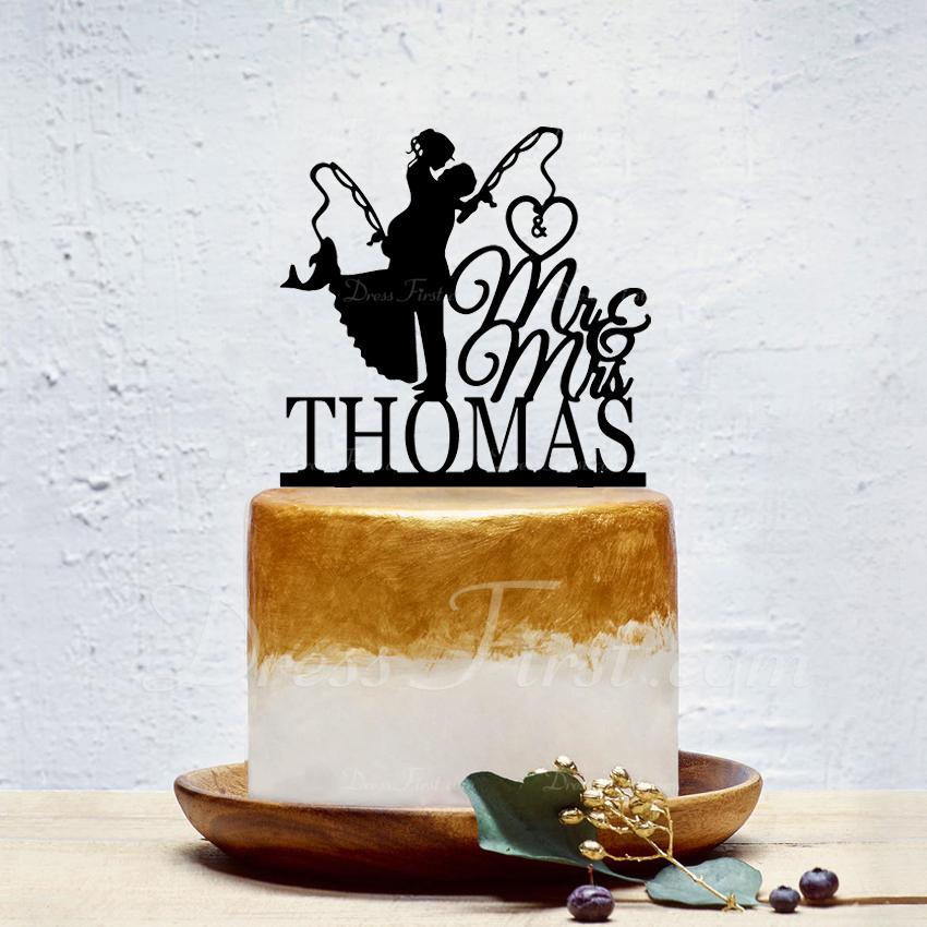 personalizované Classic pár/Sladká láska Akryl Ozdoby na dort