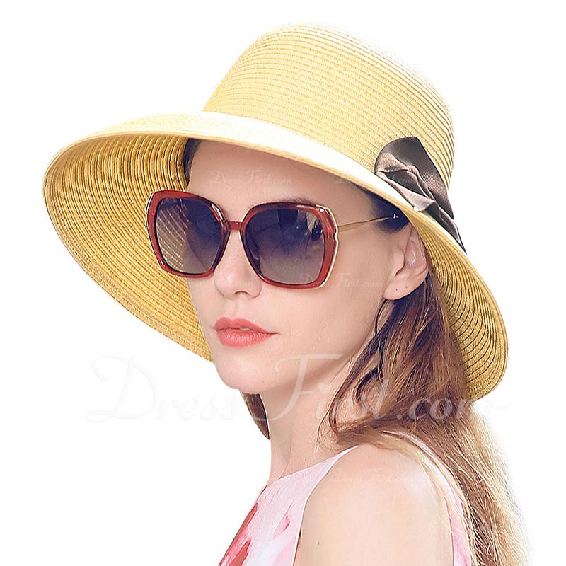 Señoras' Hermoso/Elegante con Bowknot Sombrero de paja/Sombreros Playa / Sol