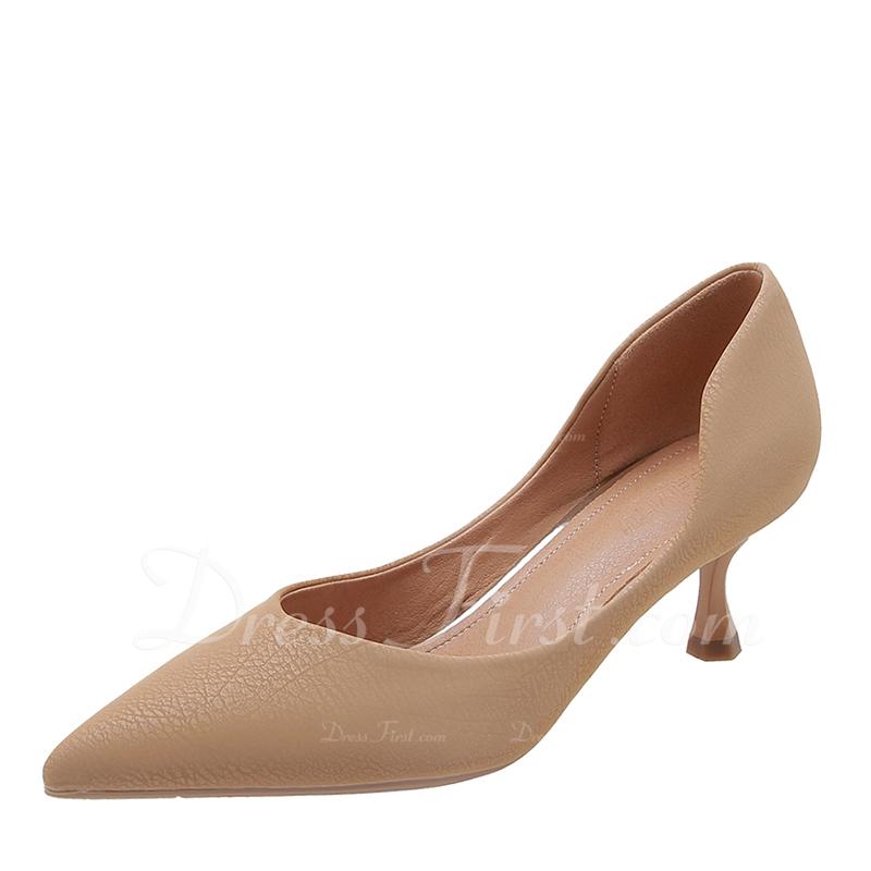 Women's Microfiber Leather Stiletto Heel Pumps shoes