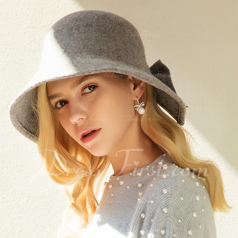 Ladies' 美しい/エレガント/シンプル ウール フロッピー帽子