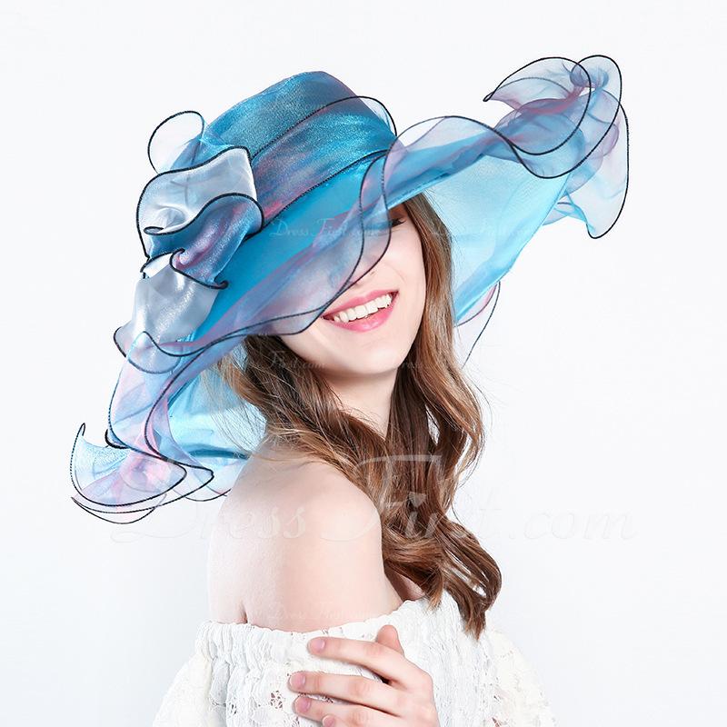Señoras' Pretty/Encanto Hilado de la red con Bowknot Sombreros Playa / Sol/Derby Kentucky Sombreros/Sombreros Tea Party
