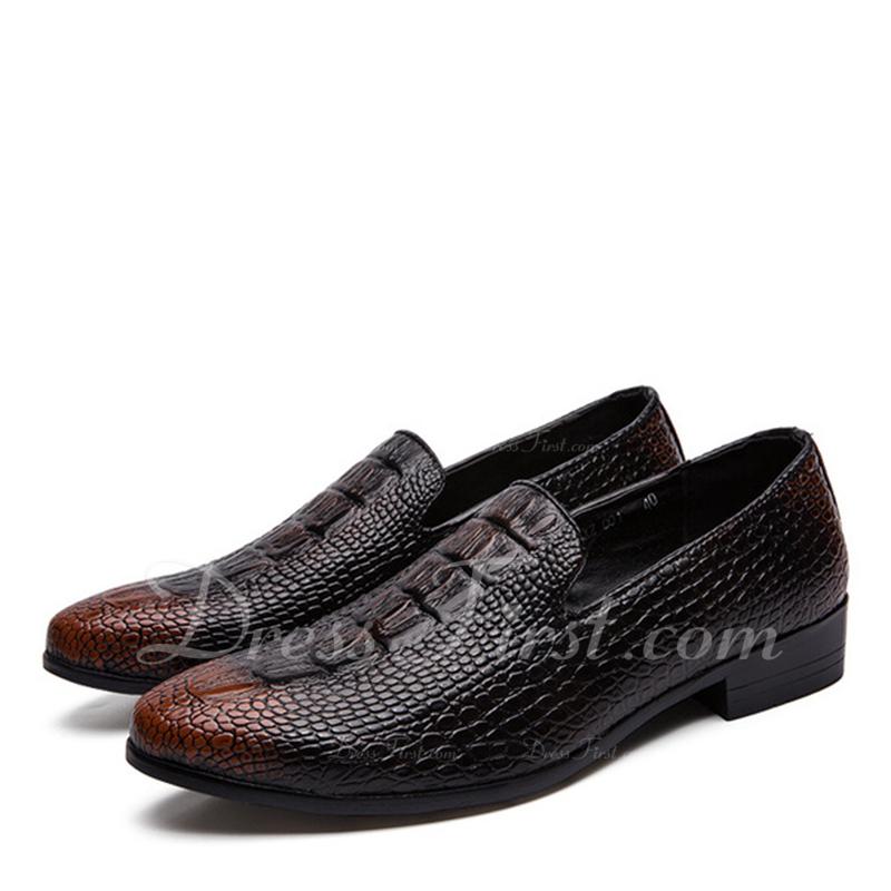 d37350be Loading zoom. Cargando. Color De: Marrón. Hombres Cuero Centavo Mocasines  Casual Zapatos ...