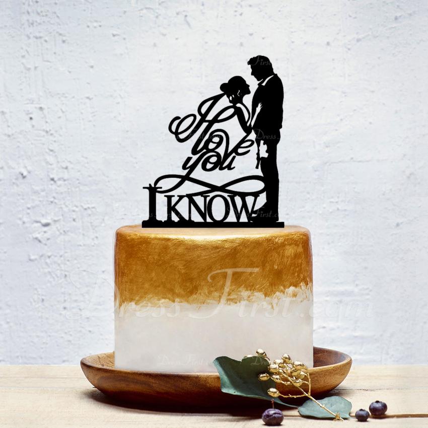 Style Classique/l'amour est doux Acrylique Décoration pour gâteaux