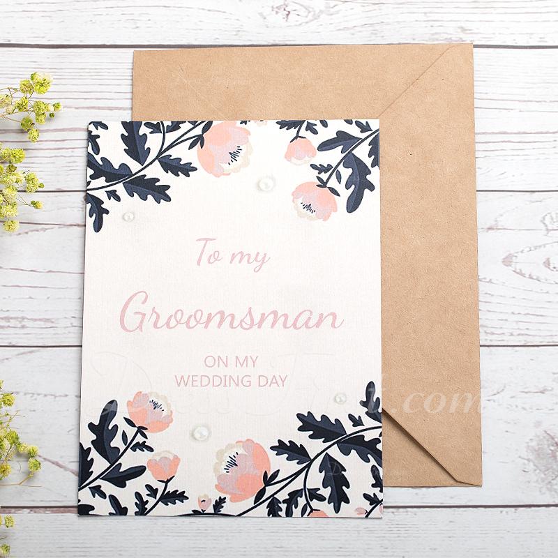 花婿の付添人のギフト - 現代 カード紙 ウェディングデイカード