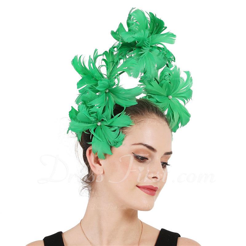 Señoras' Único/Asombroso Pluma con Pluma Tocados/Derby Kentucky Sombreros