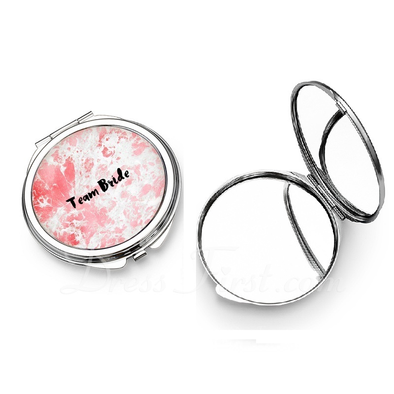 Personalized Stainless Steel Compact Mirror