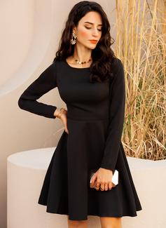 Bir Çizgi Mâneci Lungi Midi Negre Parti Sexy Moda Elbiseler