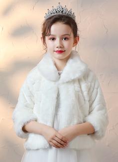 Faux Fur Wraps With Bow