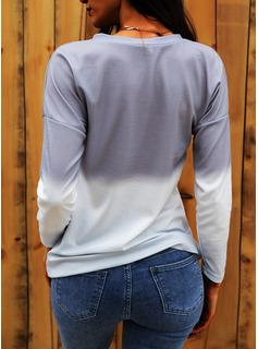 Tie Dye Tarassaco Stampa Girocollo Maniche lunghe Casuale Reggiseno Tshirt